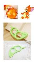 Free Shipping! 30pcs Yellow Small Mouse Open Orange Device Fruit Knife Corers Vegetable Tools -- KCP11 Wholesale