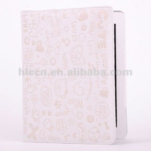 For Ipad 2 leather Case