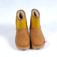 Женские кеды 2012 New winter fur leather snow boot, low Colors matching cherry boot, platform lady sneakers