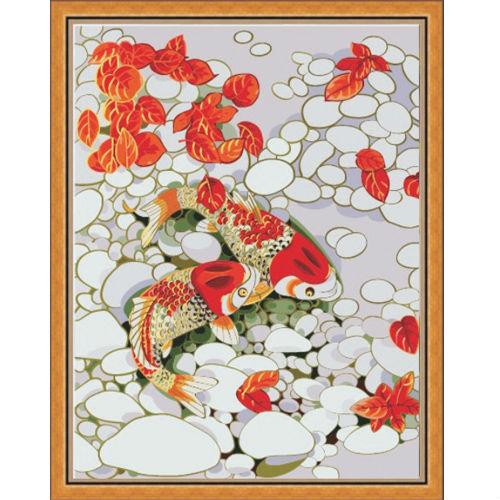 """Картина по номерам """"Золотые рыбки"""""""