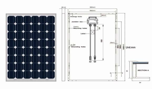 Painel Solar 190W silício monocristalino com alta eficiência