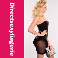 Женское платье Black Ruffle Mesh Cutout Dress LC2762-2 Drop Shipping Cheap Price