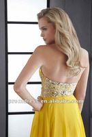 Вечернее платье Elegant Sweetheart Neckline Beaded Floor/Length Yellow Chiffon Evening Gowns P/ED/475