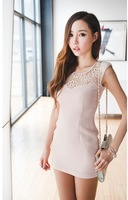 Женское платье 2012 Lace Sexy Dress Flower of Love Slim Lace Stitching a Beautiful Dress/Sundress -W18