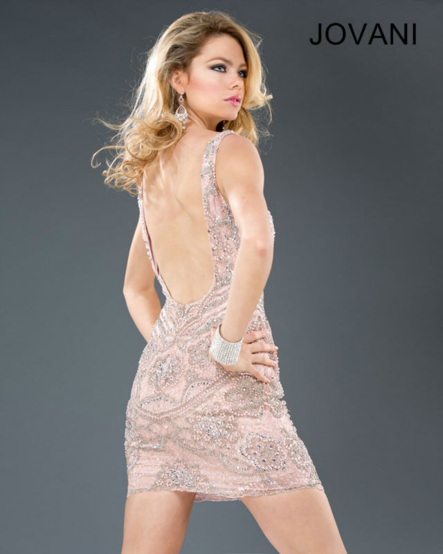 Fashion Sexy V Neck Scoop Back Spaghetti Strap Sequin Chiffon Cocktail Dress Evening Short 2014 XT-066
