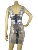 2013 cheap hot sale summer blue lady sexy celebrity bandage dress