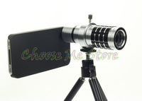 Телескопы, Бинокли 12x Optical Zoom Aluminum alloy Telescope Camera Lens 12x21 For iPhone 4 4s retail and