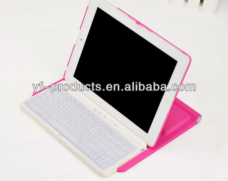 YPAC-IP02 360 Rotate Wireless Bluetooth Sliding Keyboard Cover Case for iPad 2 , 3, 4