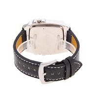 Мужские кварцевые военных наручные часы с белой двойной movt компас & термометр является украшением круглый кожаный ремешок черного корпуса 25 мм