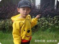 baby kids cartoon thick thin Hoodies shirt boy's Sweatshirts pooh hoody baby cartoon clothling cotton free shipping 1-7T
