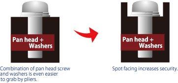 TRI WING Flat Head Security Decorative Screws