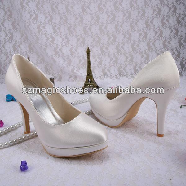 Wedopus Customize Handmade Round Toes Women Wedding Pumps Platform Dropship