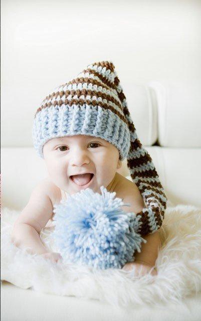 Cute Newborn Baby With Hats Cute