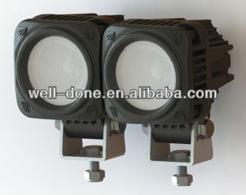 linkable square mini 10W LED light, motorcycle LED driving lgiht, LED off road light.