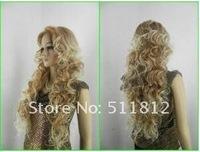 Шиньон 2012 Beautiful long blonde mix women's made hair wigs