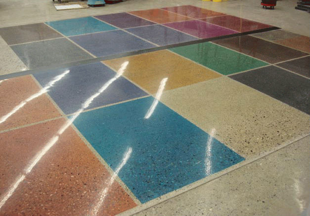 - Very Flat,Heavy Duty Polished Concrete Floor With High Gloss Finish ...