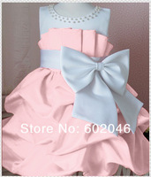 FREE SHIPPING NEW HOT SALE KOREAN GIRL'S PURE COLOR CHIFFON BOWKNOT PRINCESS SKIRT 4pcs/LOT BIG RED AND PINK