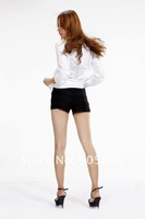 Одежда и Аксессуары 2011 new Fall Boyfriend's white women shirts sexy street wears white and black color XS~L size Casual shirts