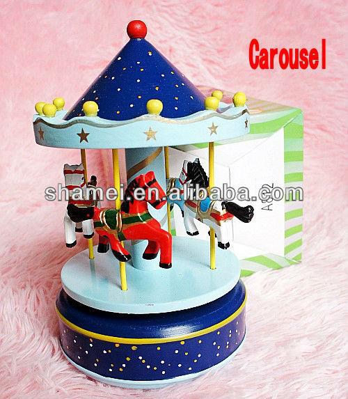 Wholesale wooden carousel music box