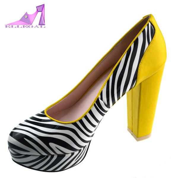Fashion stirp high thick heel platform shoes