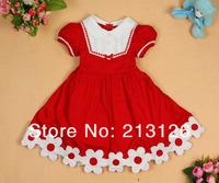горячий продать девушка платье принцессы, короткие девушка платье девушка 95% хлопок dress2color + бесплатный подарок gd18