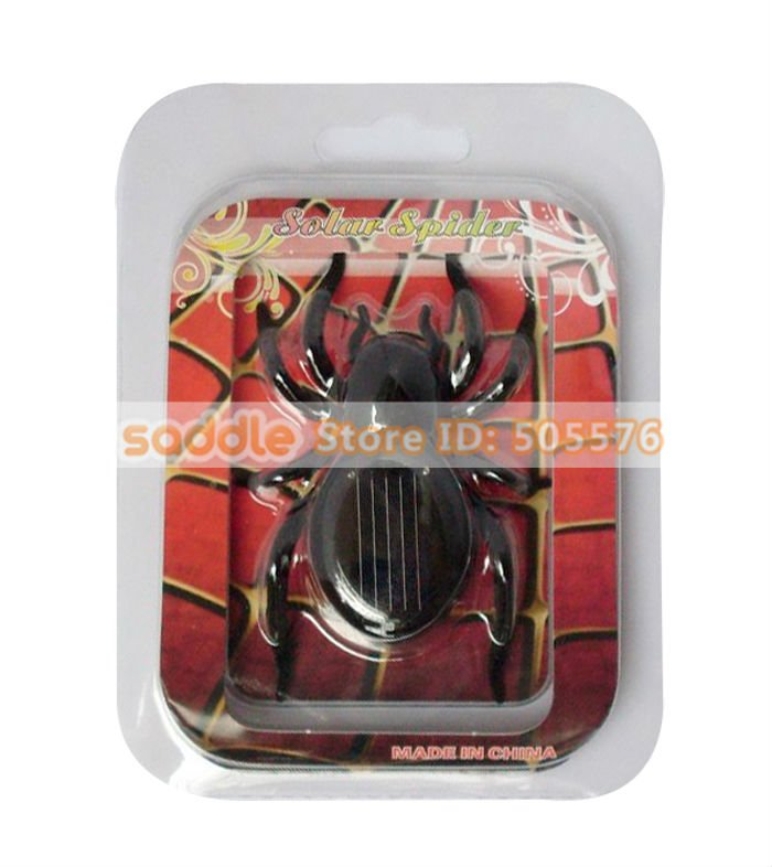 Solar Spider , Mini Solar Toy as Gadget Gift / Cute Present ! Free Shipping ! Wholesale 3Pcs/Lot !
