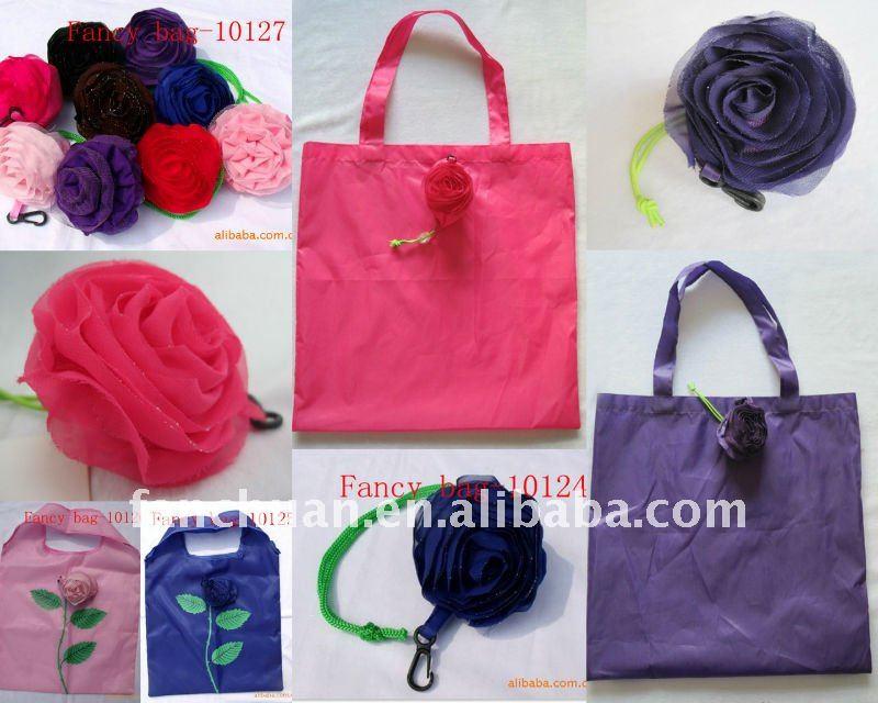 fashion rose folding shopping bag