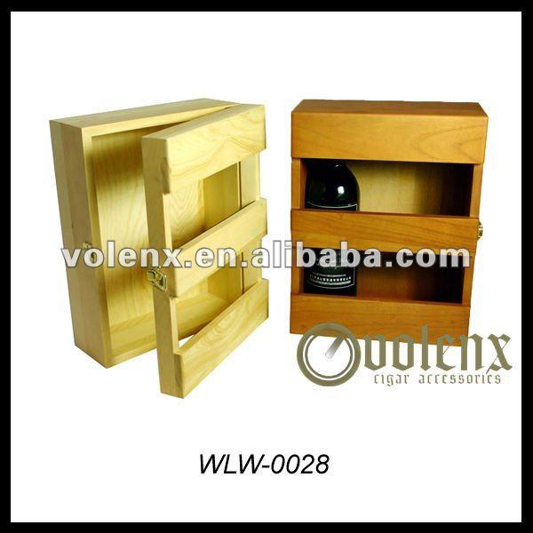 wooden wine bottle box holder/wine carrier for sale