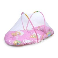 baby mosquito net/Summer essential - large portable folding baby mosquito net with cushion pillow / 02531