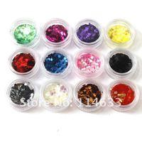Big Discount! 12 Colors Big Hexagon Glitter Nail Art Decoration