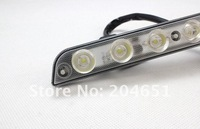 Светодиодное освещение 10sets/lot Universal 9Wx2 LED Daytime Running Light E4 LED DRL car Fog lights 1year warranty (01010164
