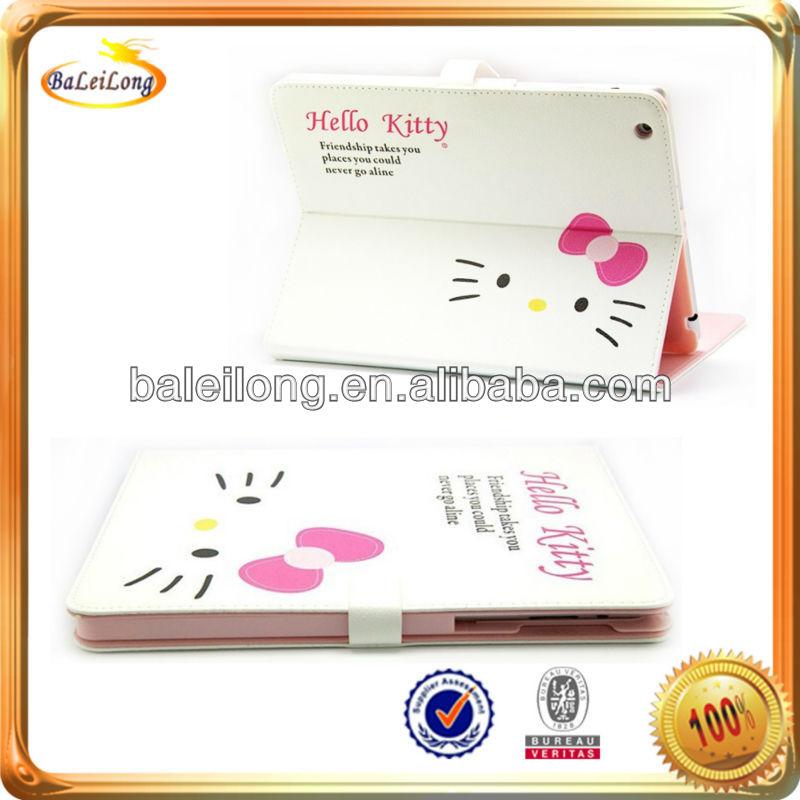 Hot!Lovely HelloKitty Smart Cover Leather Case for iPad mini iPad 2 iPad 2/3/4