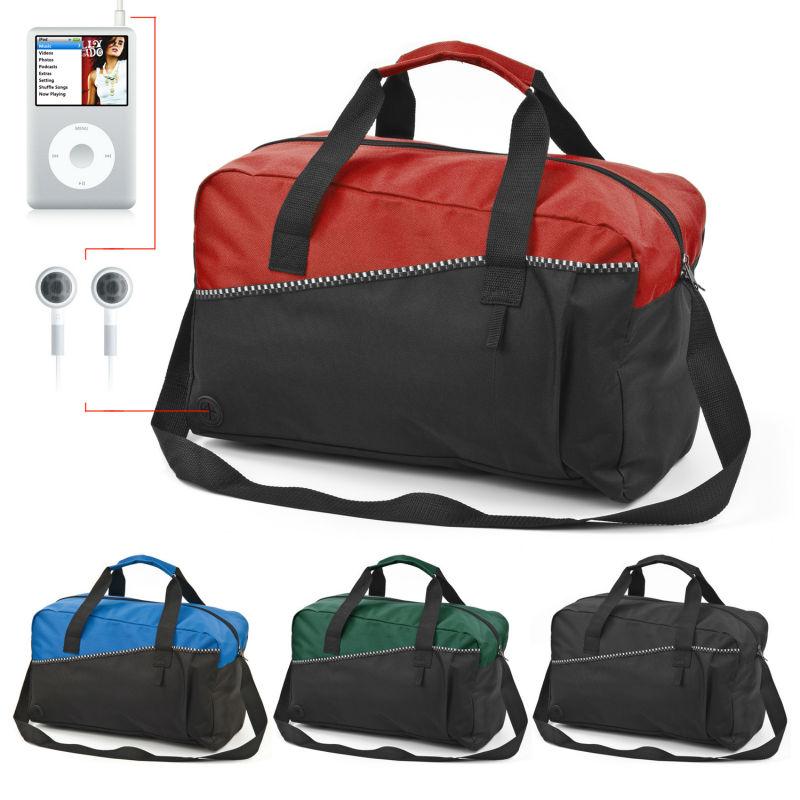 Fashion 18 inch Sports Gym Travel Duffel Bag Port Red Blue Green Black