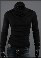 Мужской пуловер Men's Bottoming shirt, Man knitting sweater, leisure choker, high collar backing shirt, and retail 6510