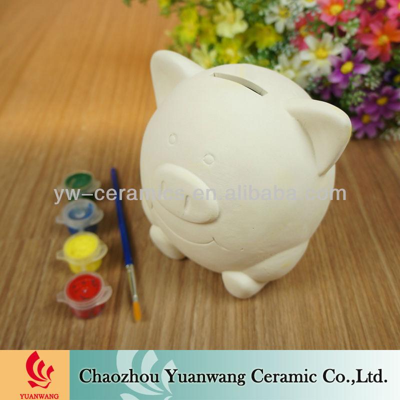 Diy bsique piggy bank money box ceramic painting for kids for Diy ceramic painting