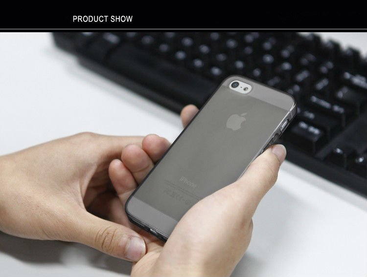 Color Clear Transparent TPU Plain Rubber Skin Case Cover for Apple iPhone 5