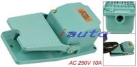 Коммутатор AC 250V 10A Antislip Metal Green Case Foot Pedal Switch