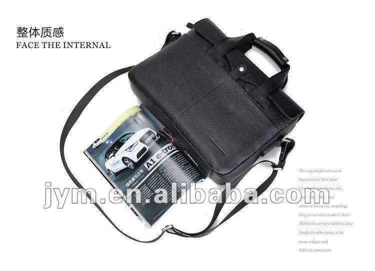 Business travel leather briefcase man bag handbags computer bag