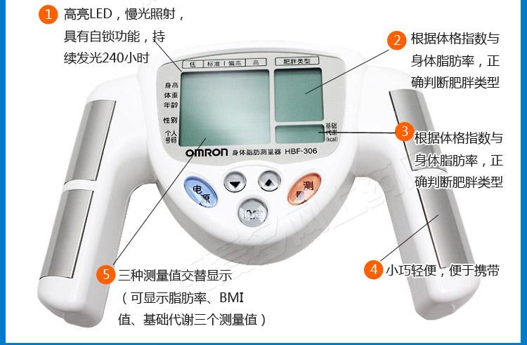 Omron body fat analyzer process