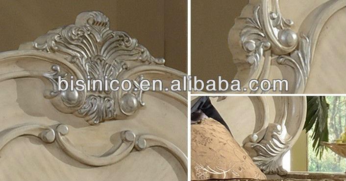 크림 색상 romatic 장미 조각 단단한 나무 침실 가구 세트 moq: 1 ...