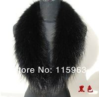 Женский шарф Fashion women 100% Real Large raccoon fur collar scarf for 90cm Length 17cm width