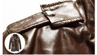 Потребительские товары 2013 Hot Sale Fall Fashion Men's Faux Leather long Jacket Men's Casual Wear Black brown Size; M-XXL MWP032