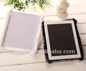 Manual Winter Warm Genuine Rabbit Cony Fur Hair Case Cover For iPad 2 3 4 air mini