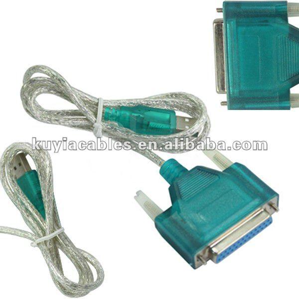 USB para serial Porta Paralela Db25 macho Adaptador de Cabo de impressora cabo de computador
