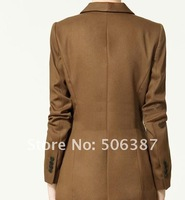 2012 new women's coat cultivate one's morality Europe and America in the suit long suit show thin coat