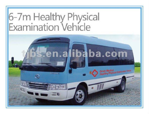 Mobile medical vehicle with digital x ray machine