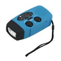 1шт эне ручки для вращения солнечный с AM/FM радио питание от радио светодиодный фонарик зарядное устройство телефона дропшиппинг