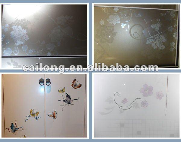screen printing glass for sliding door
