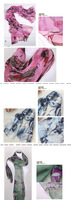 Женский шарф Korean version of the spring and ink style fantasy Begonia scarves voile shawl long scarf women