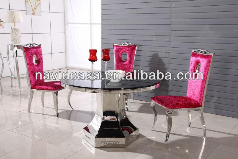 simlple 디자인 저렴한 유리 식탁 세트 a2706-금속 테이블 -상품 ID ...